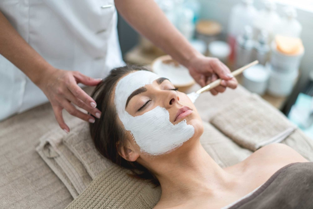 Living Well Family Medicine of Boerne woman getting a facial living well boerne family medicine